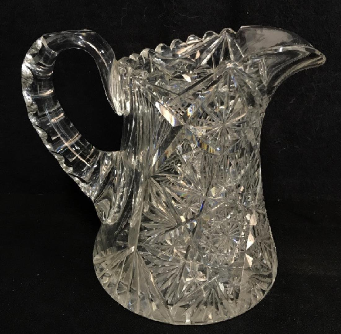 Cut Glass/Crystal Vintage Pitcher