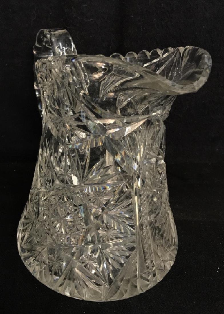 Cut Glass/Crystal Vintage Pitcher - 2