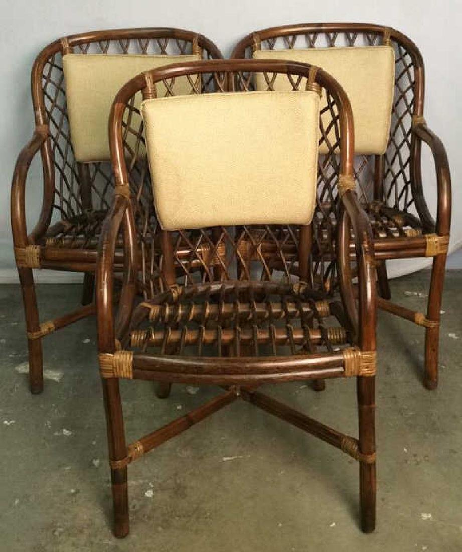 Lot 5 Bamboo and Rattan Style Chairs - 2