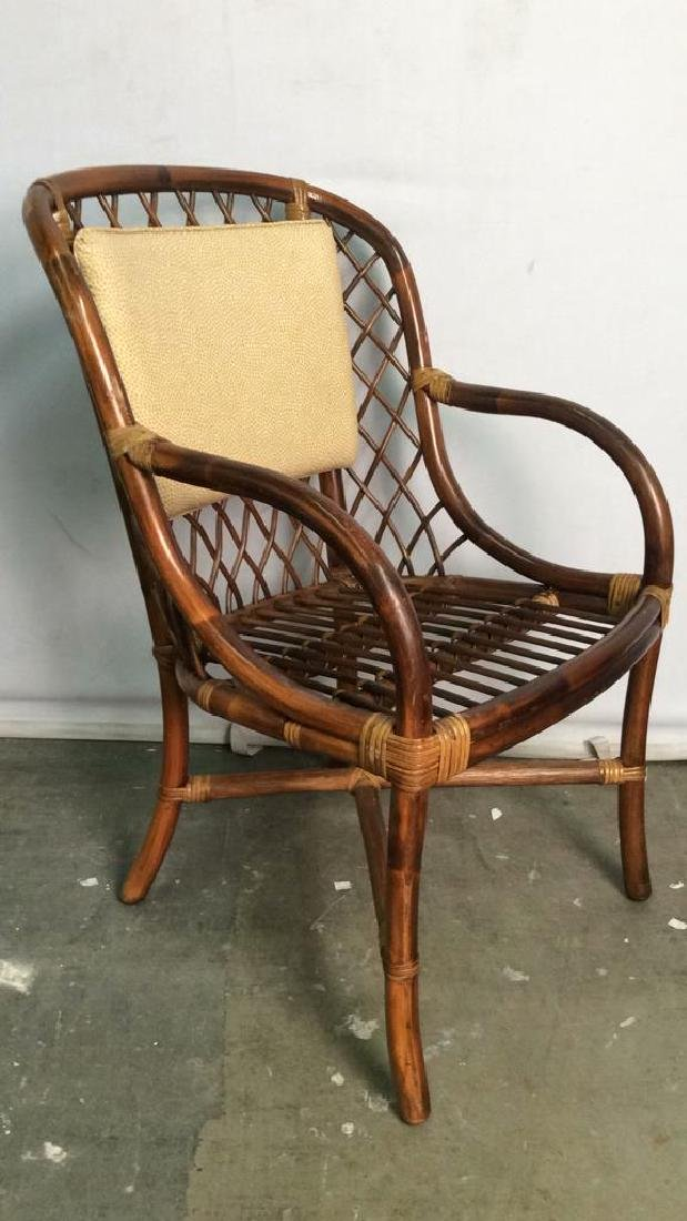 Lot 5 Bamboo and Rattan Style Chairs - 4
