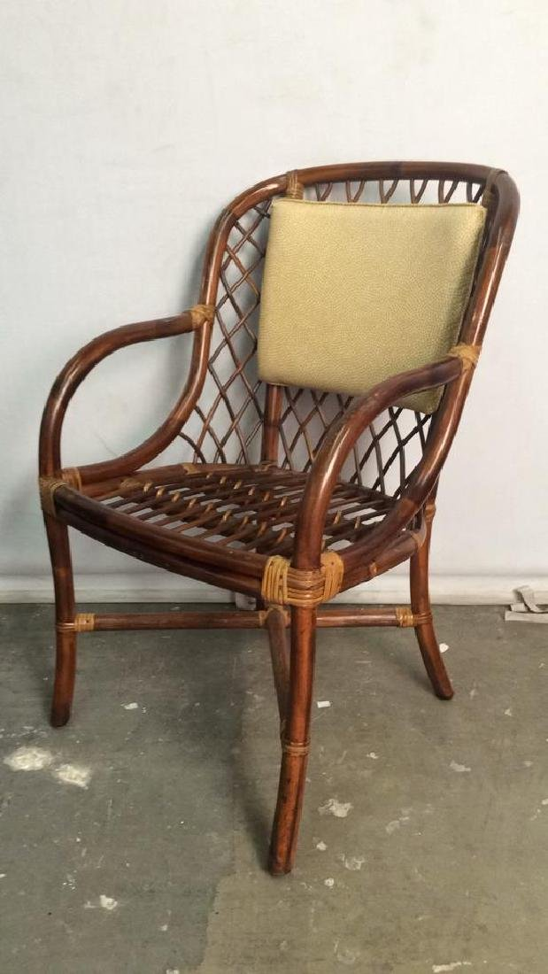 Lot 5 Bamboo and Rattan Style Chairs - 5