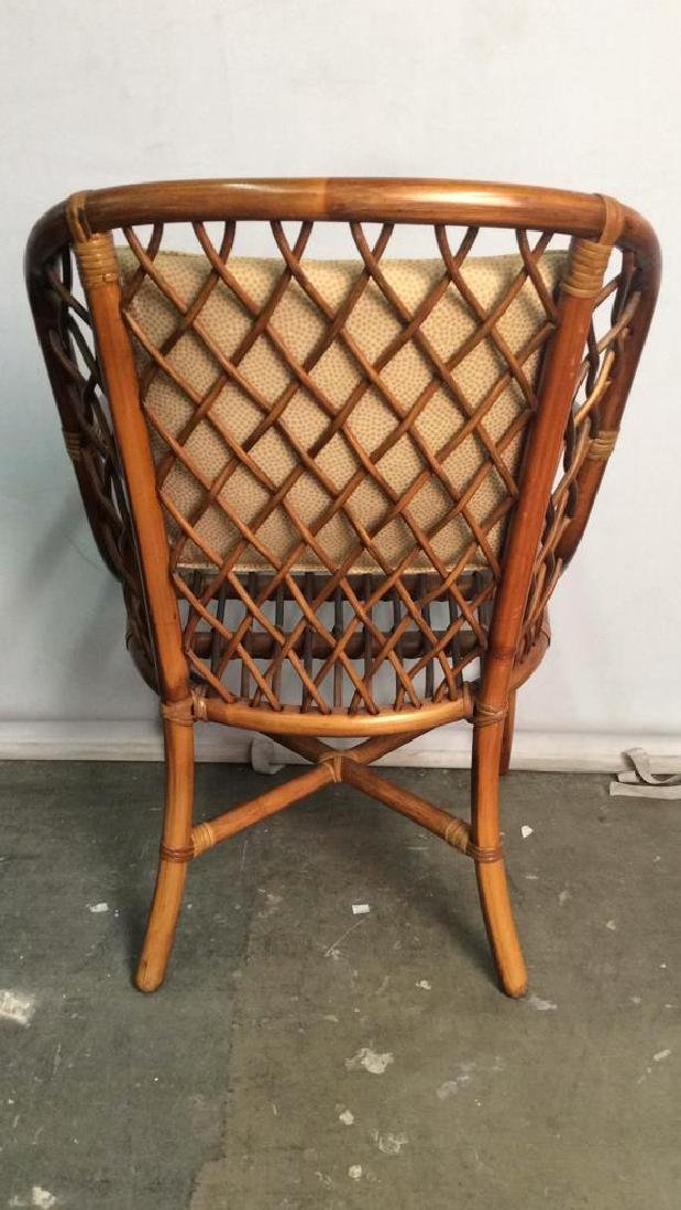 Lot 5 Bamboo and Rattan Style Chairs - 6