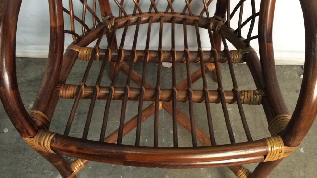 Lot 5 Bamboo and Rattan Style Chairs - 8