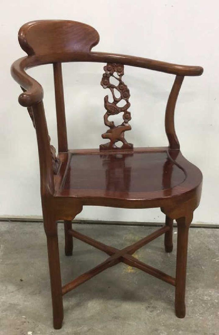 Antique Carved Asian Corner Chair - 3