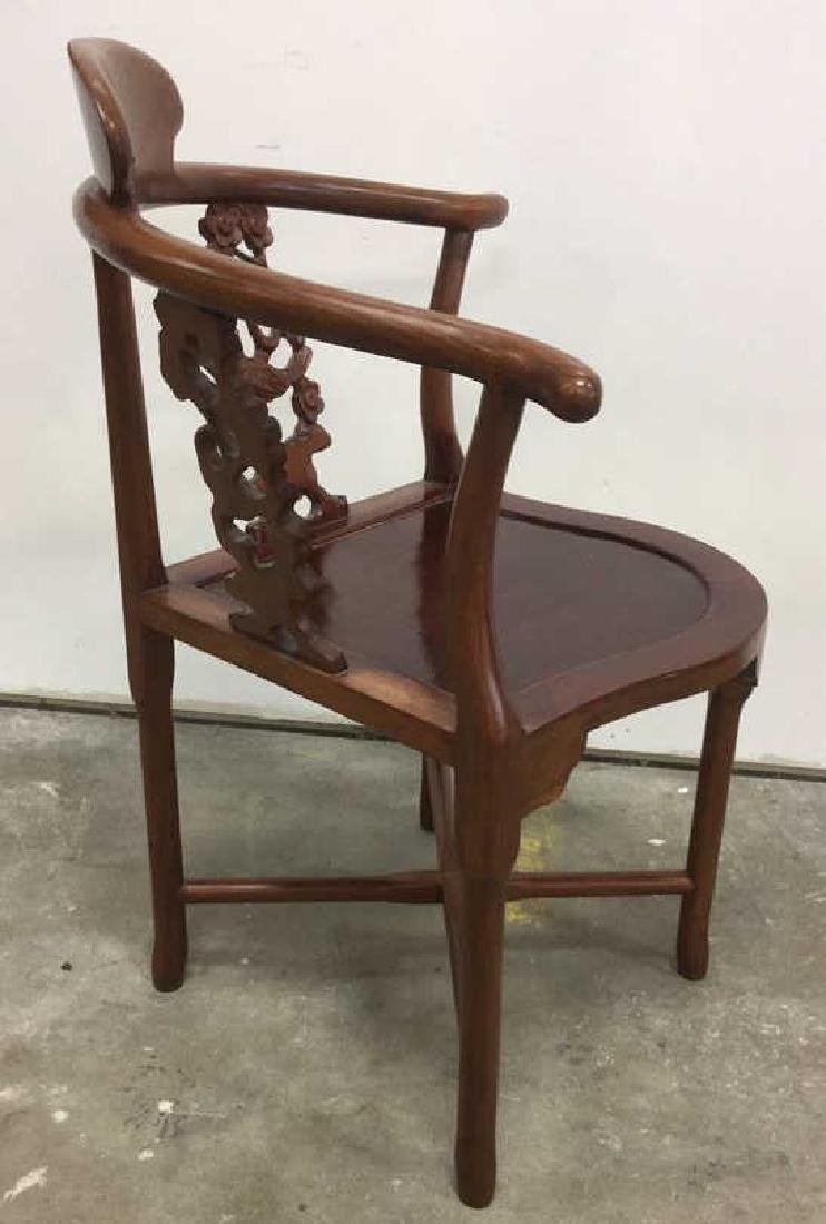 Antique Carved Asian Corner Chair - 4