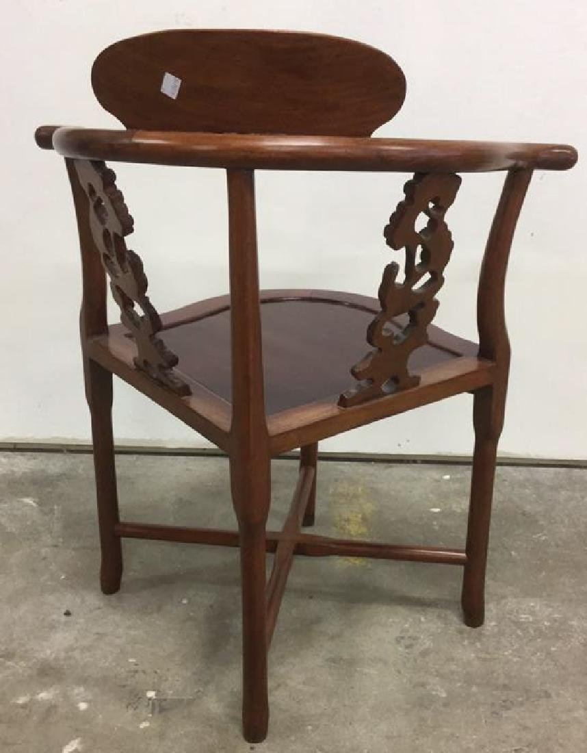 Antique Carved Asian Corner Chair - 5