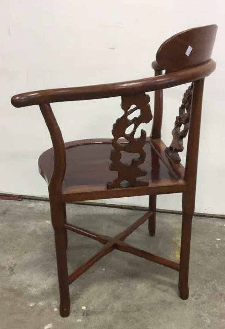 Antique Carved Asian Corner Chair - 6