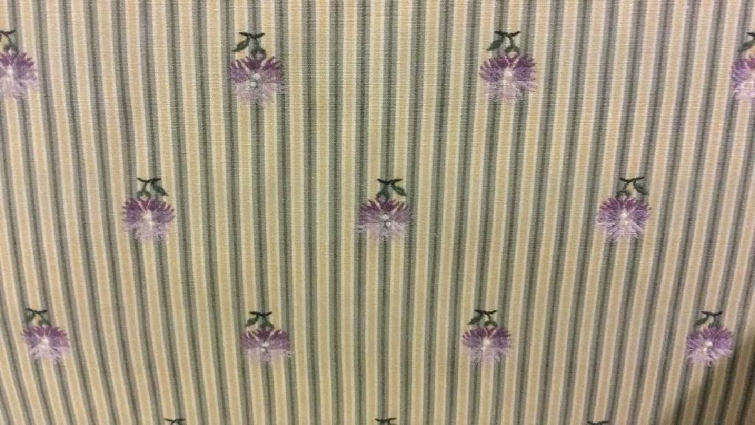 A RUDIN Designer Striped Skirted Loveseat - 6
