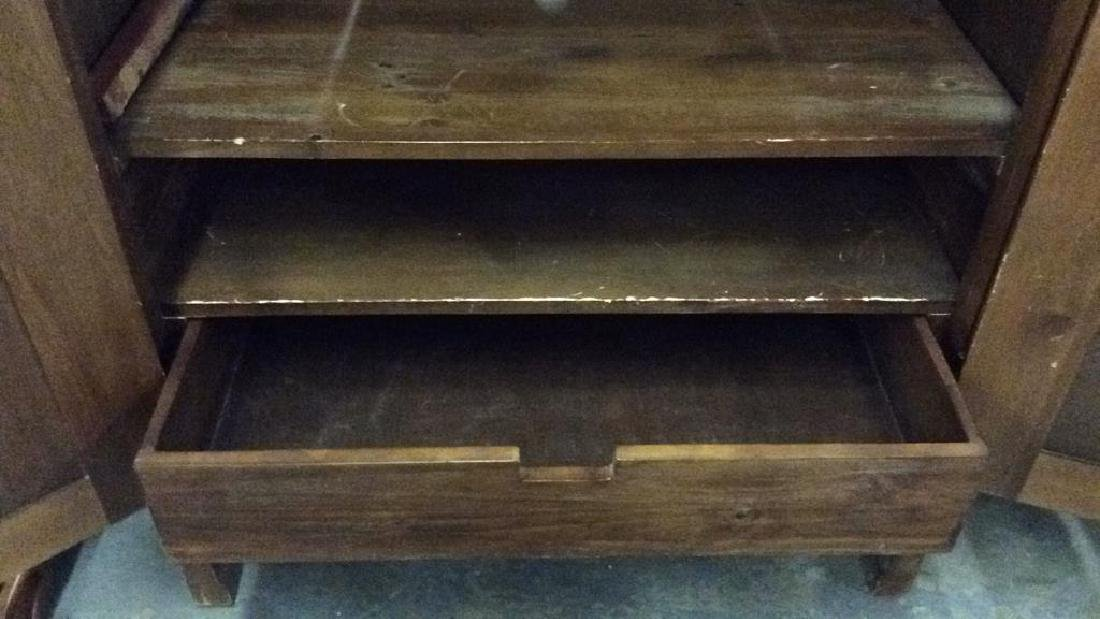 Carved Wooden Entertainment Console - 5