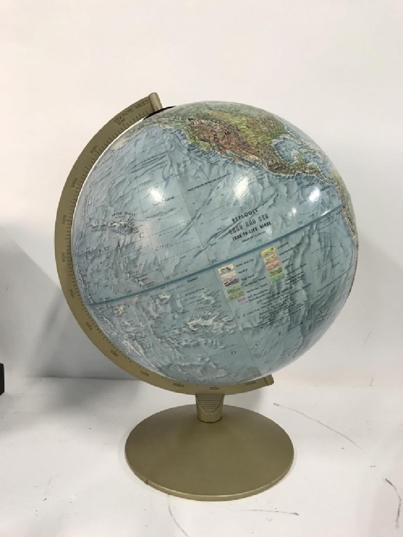 Tabletop Standing Spin Earth Globe - 3