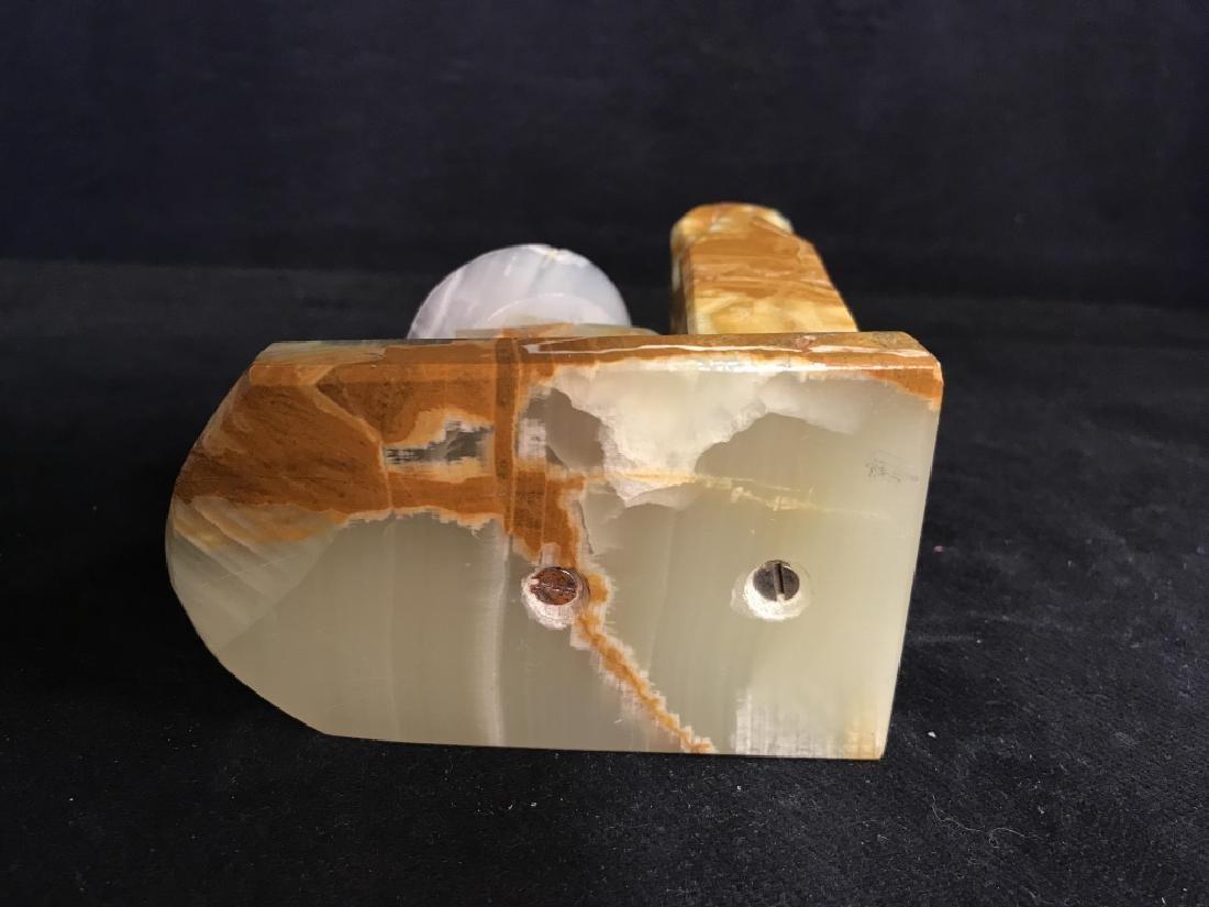 Single Vintage Onyx Stone Bookend - 5