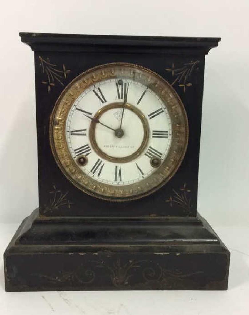 Black Iron Mantle Clock Antonia - 2