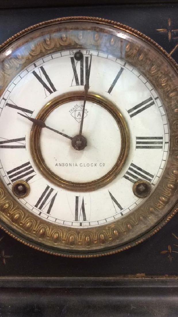 Black Iron Mantle Clock Antonia - 3