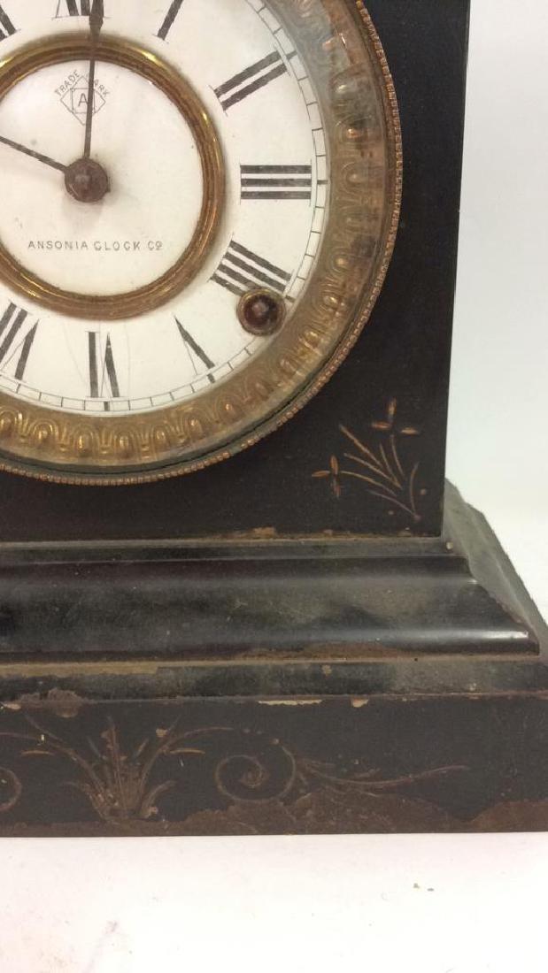Black Iron Mantle Clock Antonia - 4