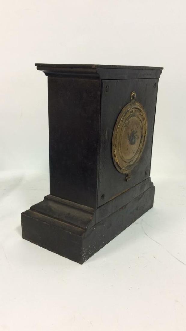 Black Iron Mantle Clock Antonia - 5
