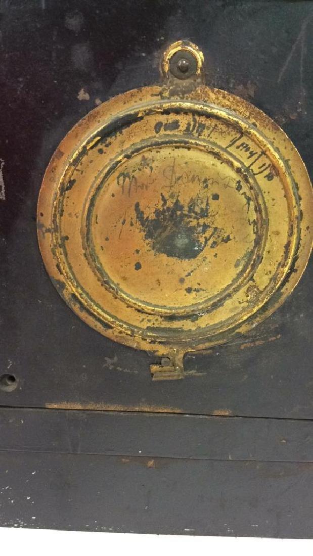 Black Iron Mantle Clock Antonia - 6