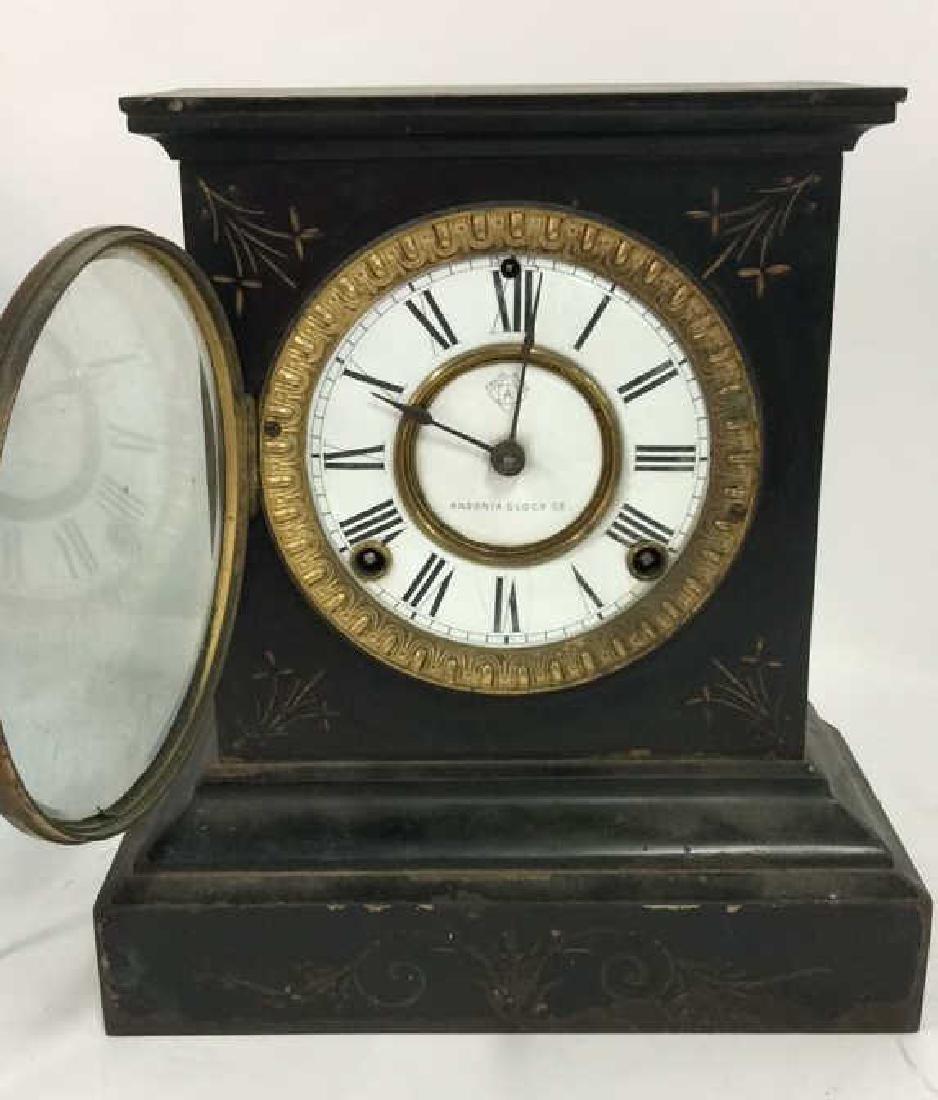 Black Iron Mantle Clock Antonia - 7