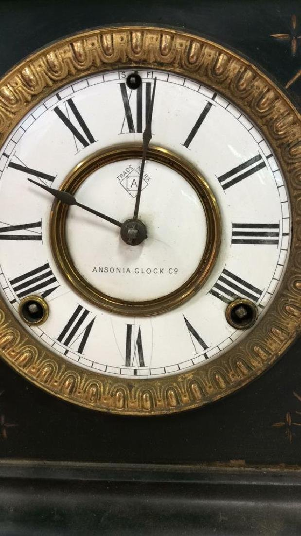Black Iron Mantle Clock Antonia - 8