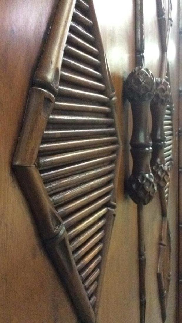 Faux Bamboo and Carved Wood  Armoire - 7