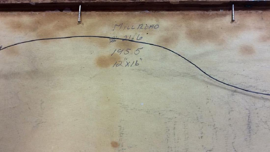 Signed Mid Century New England Barn Painting - 9