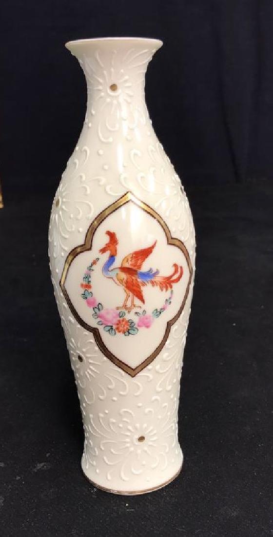 Noritake Textured Painted Porcelain Vase
