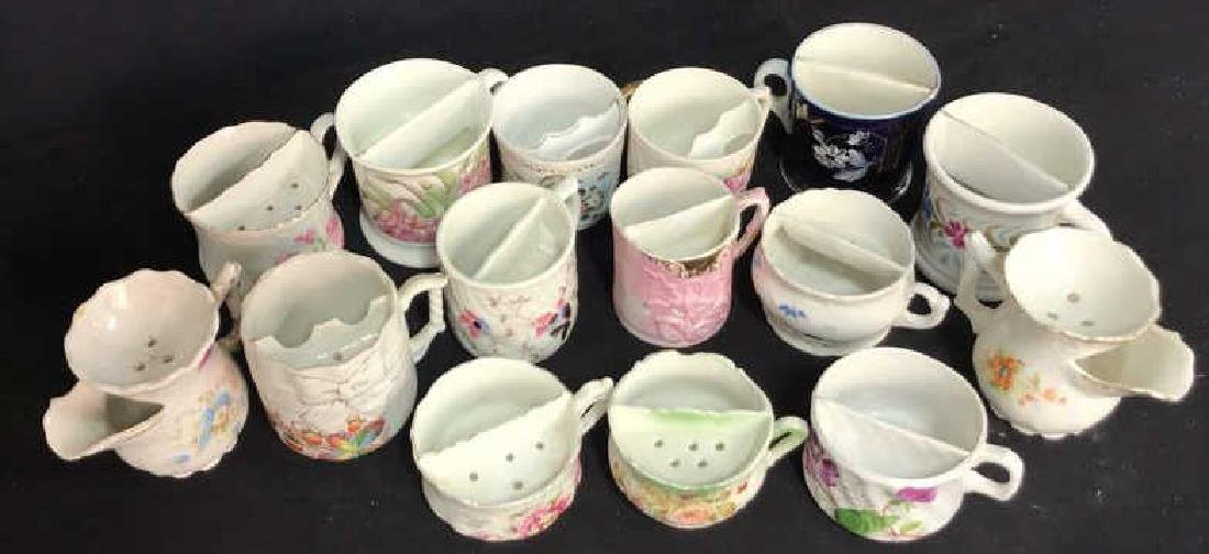 Collection 15 Mustache Cups, Shaving Cups Mugs