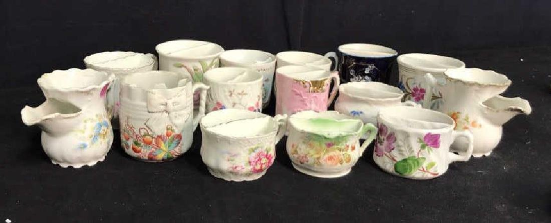 Collection 15 Mustache Cups, Shaving Cups Mugs - 2