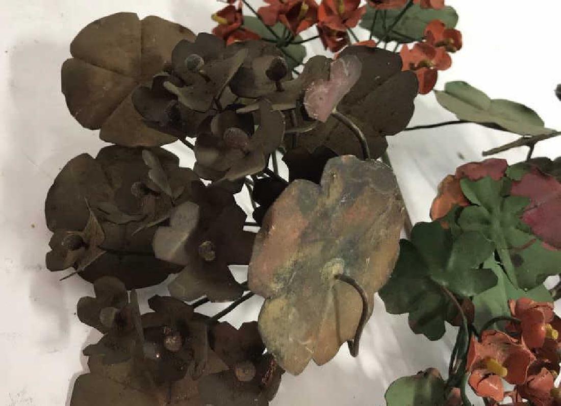 Group Lot Vintage Painted Metal Flower Bouquets - 4