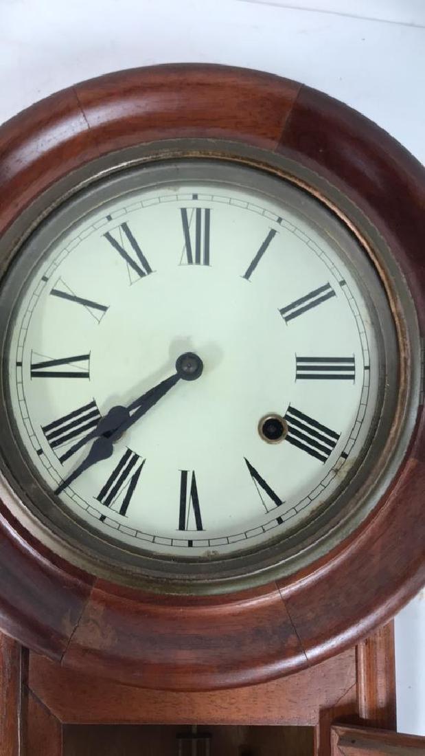 Wood Framed Wall Mount Regulator Clock - 4