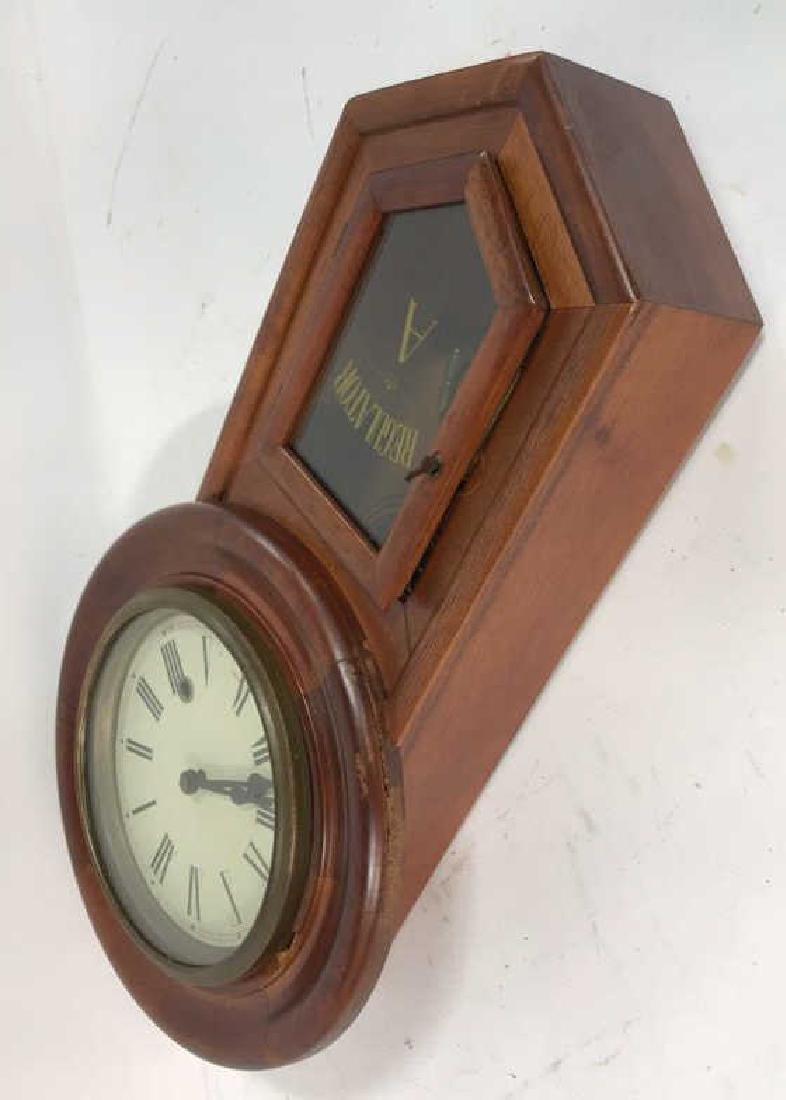 Wood Framed Wall Mount Regulator Clock - 6