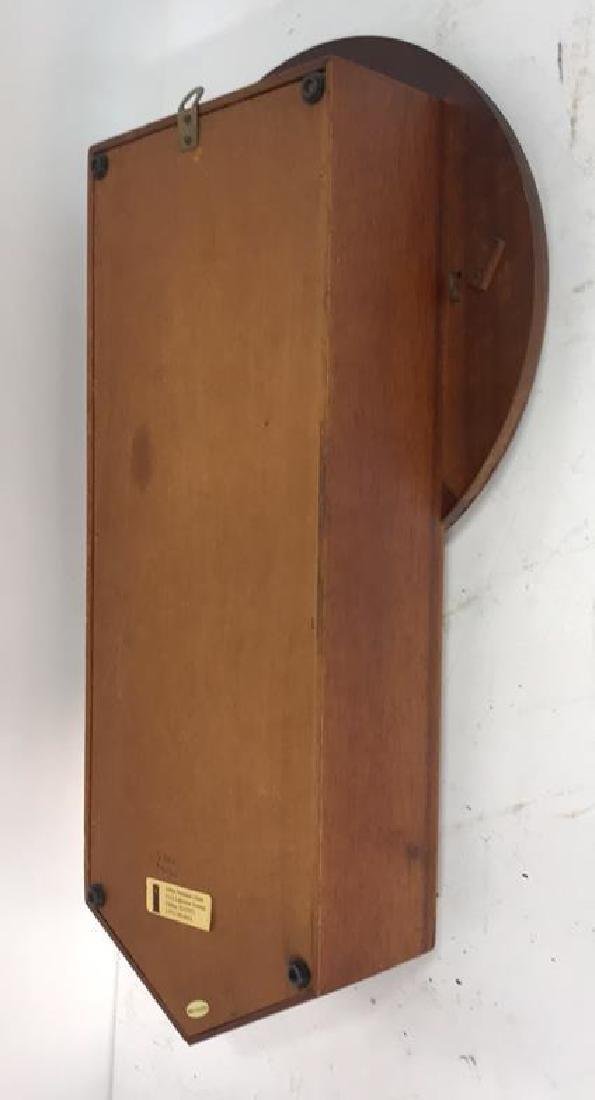 Wood Framed Wall Mount Regulator Clock - 8