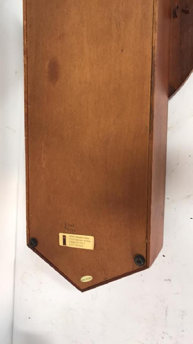 Wood Framed Wall Mount Regulator Clock - 9