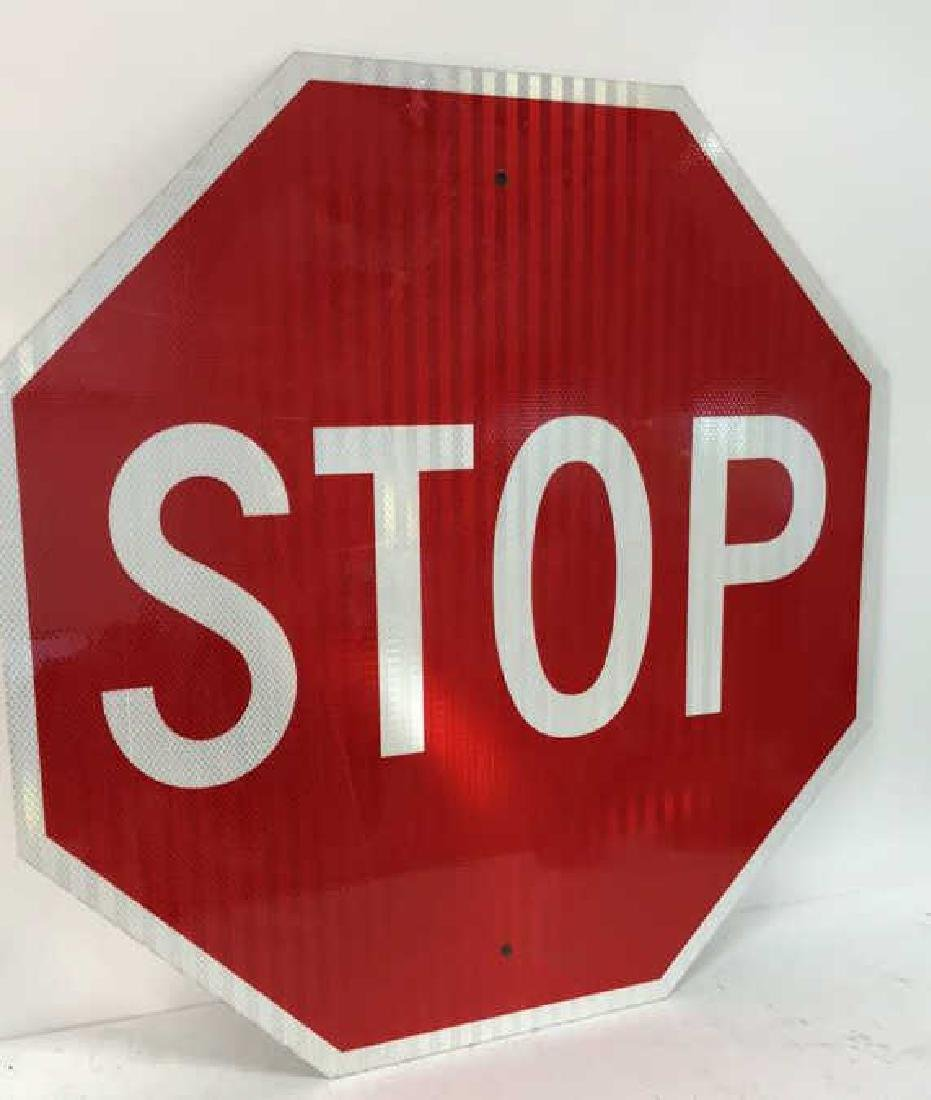 Red and White Metal STOP Sign Art - 2