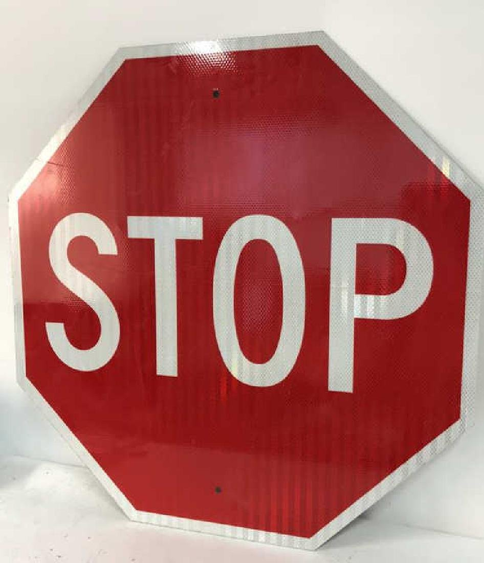 Red and White Metal STOP Sign Art - 3