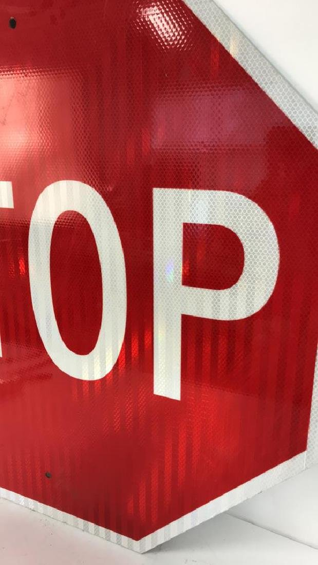 Red and White Metal STOP Sign Art - 4