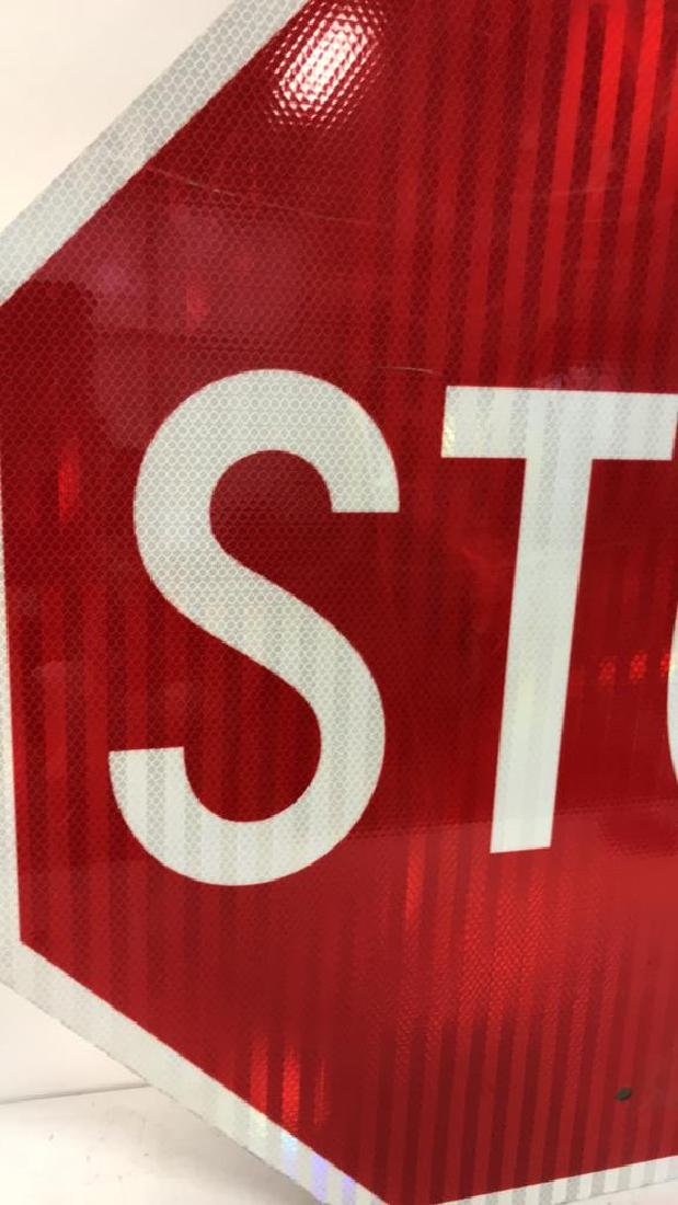 Red and White Metal STOP Sign Art - 6