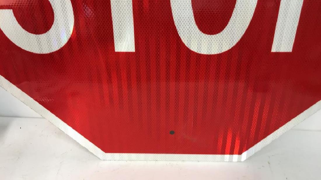 Red and White Metal STOP Sign Art - 7