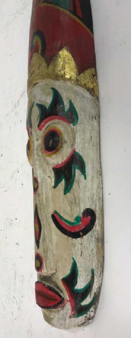 Tribal Style Carved Painted Mask - 10