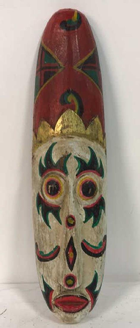Tribal Style Carved Painted Mask