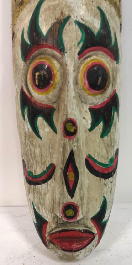 Tribal Style Carved Painted Mask - 2