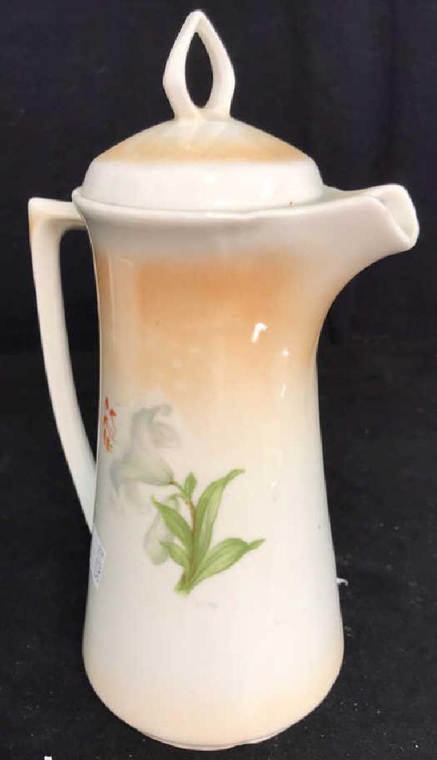 2 Vintage Painted Porcelain Teapots - 10