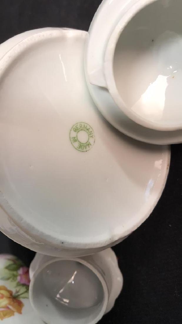 2 Vintage Painted Porcelain Teapots - 7