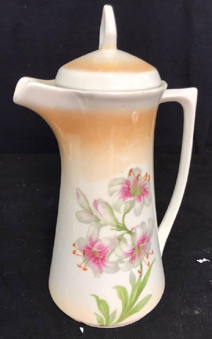 2 Vintage Painted Porcelain Teapots - 8