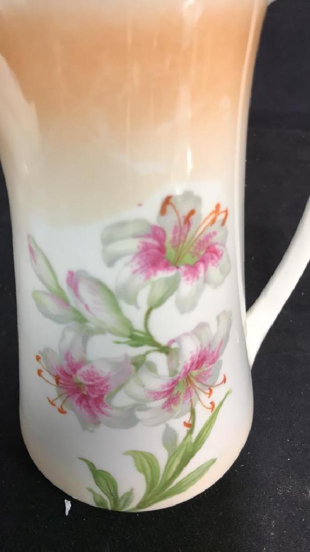 2 Vintage Painted Porcelain Teapots - 9