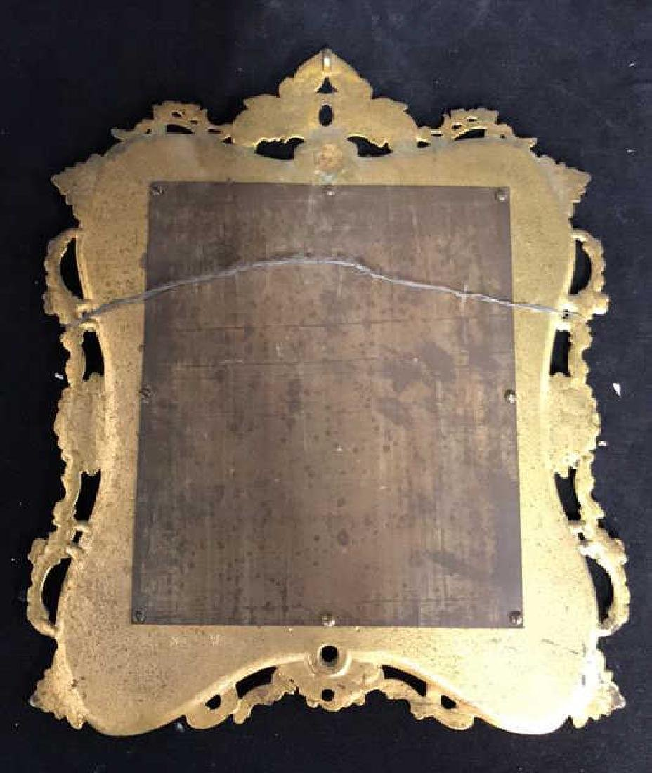 Brass and Black Toned Metal Framed Mirror - 10