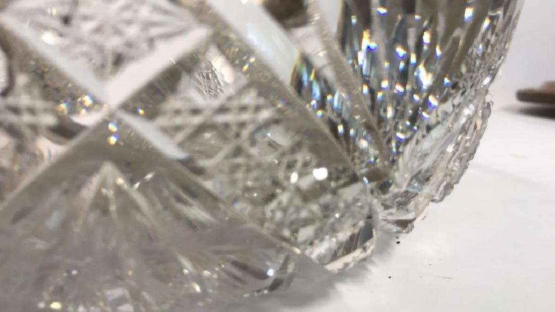 Cut Crystal Bowl with Sterling Rim - 7