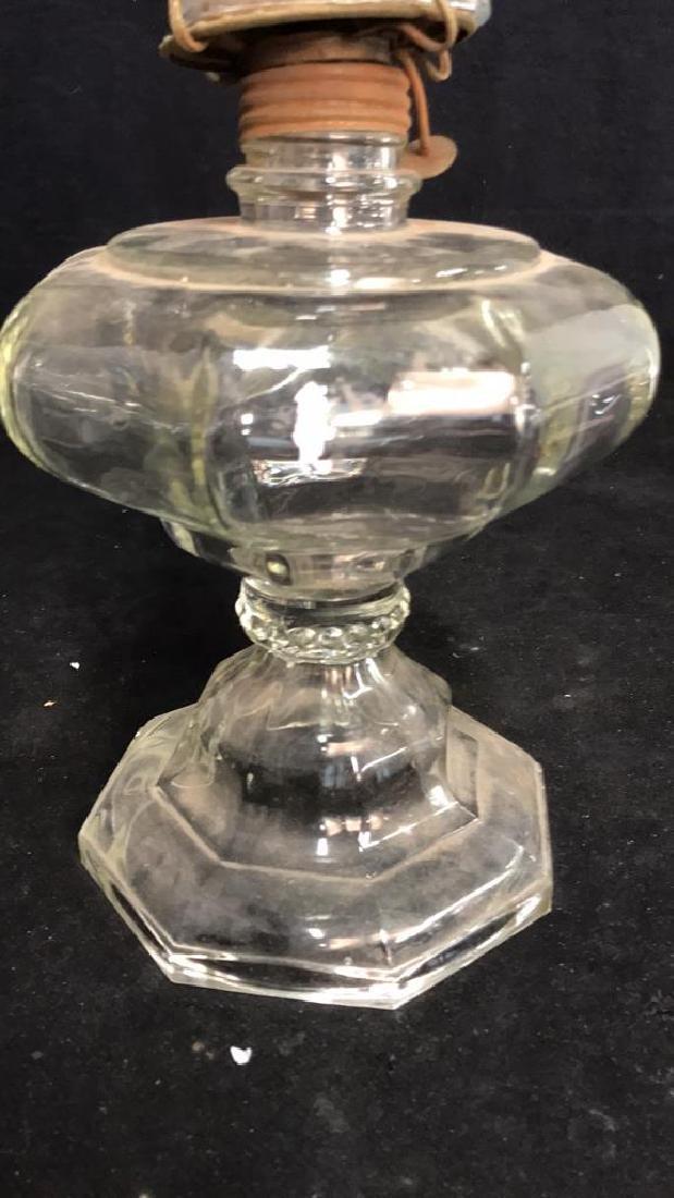 Vintage Formed Glass Oil Lamp - 2