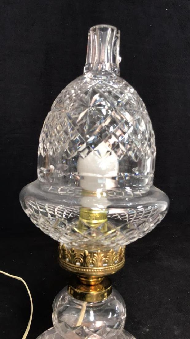 Cut Crystal Brass Double Gourd Form Lamp - 3