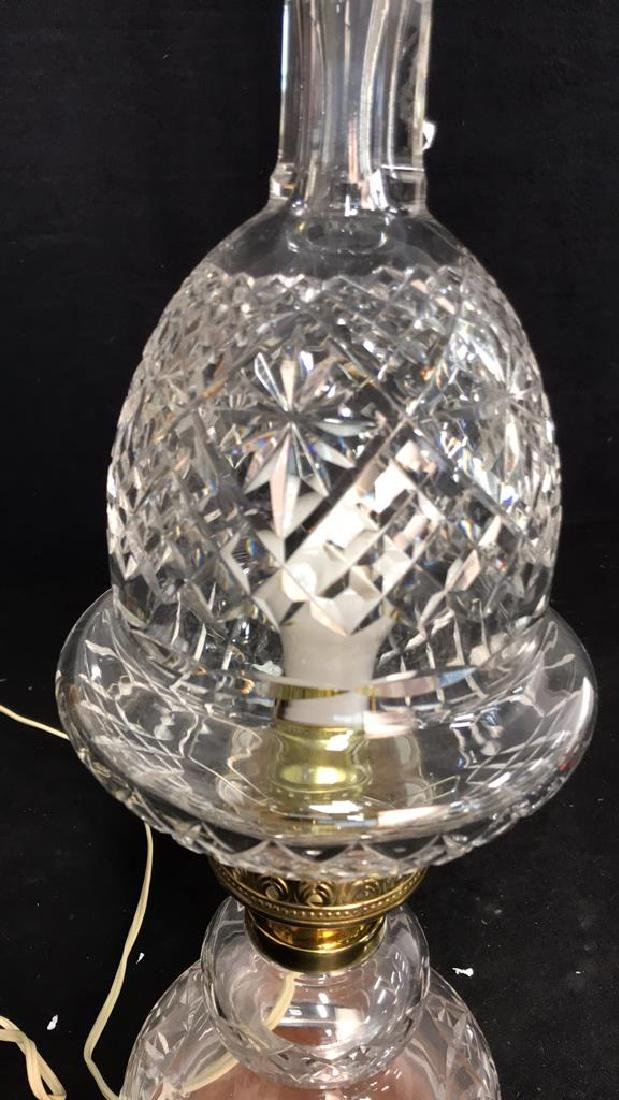 Cut Crystal Brass Double Gourd Form Lamp - 4