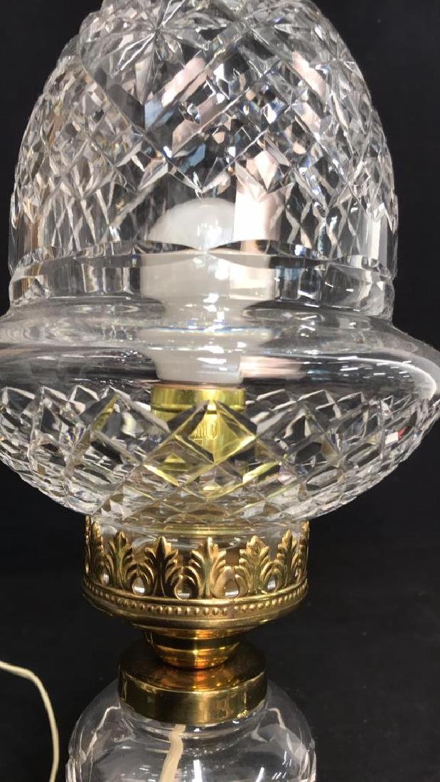 Cut Crystal Brass Double Gourd Form Lamp - 5